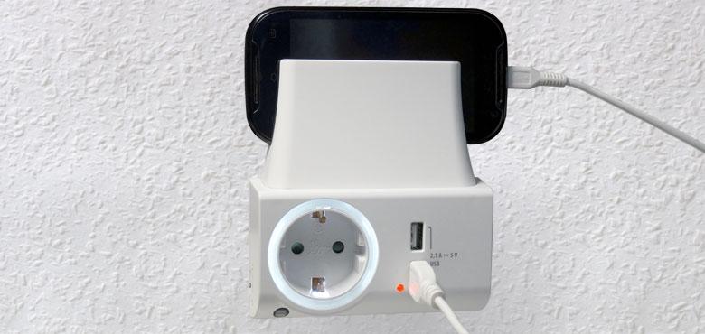 USB-Ladegerät mit Nachtlicht