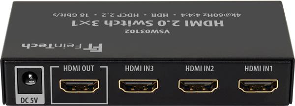 HDMI-Switch 3x1 Rückseite