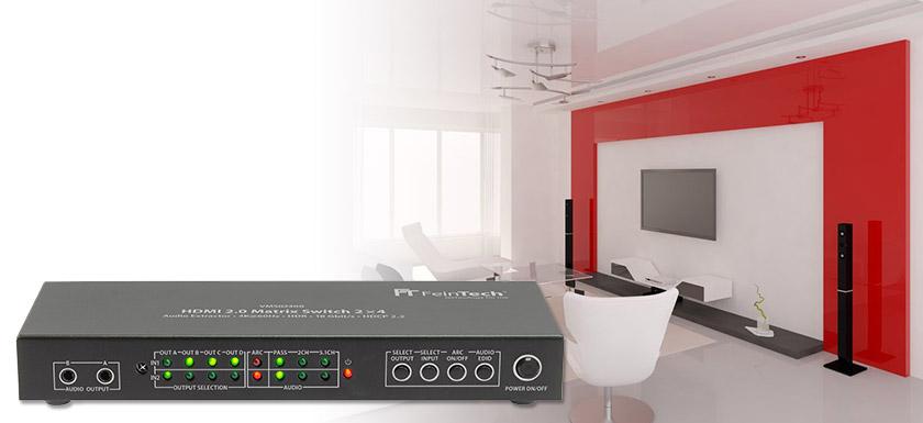 VMS02400 HDMI Matrix Switch 2x4 Splitter-4-port