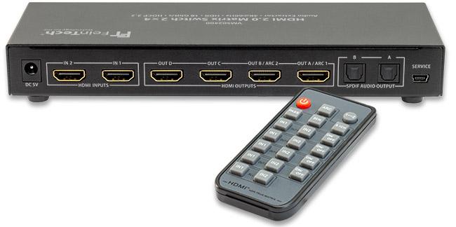 VMS02400 HDMI Switch 2x4 Anschlüsse